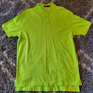 Polo by Ralph Lauren Neon Green Polo Orange Logo
